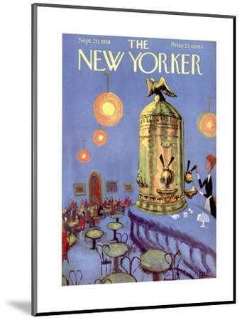 The New Yorker Cover - September 20, 1958-Robert Kraus-Mounted Premium Giclee Print