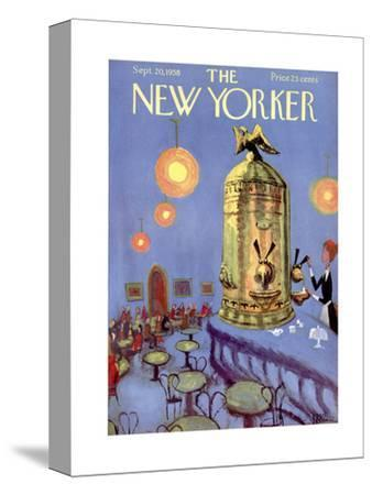 The New Yorker Cover - September 20, 1958-Robert Kraus-Stretched Canvas Print