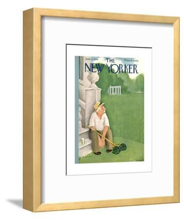 The New Yorker Cover - June 3, 1944-William Cotton-Framed Premium Giclee Print