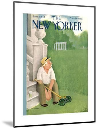 The New Yorker Cover - June 3, 1944-William Cotton-Mounted Premium Giclee Print