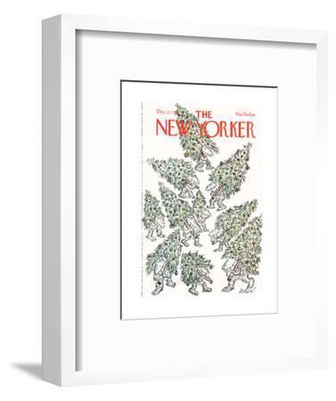 The New Yorker Cover - December 12, 1977-Edward Koren-Framed Premium Giclee Print