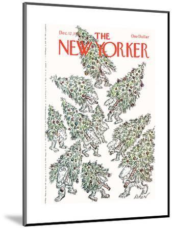 The New Yorker Cover - December 12, 1977-Edward Koren-Mounted Premium Giclee Print