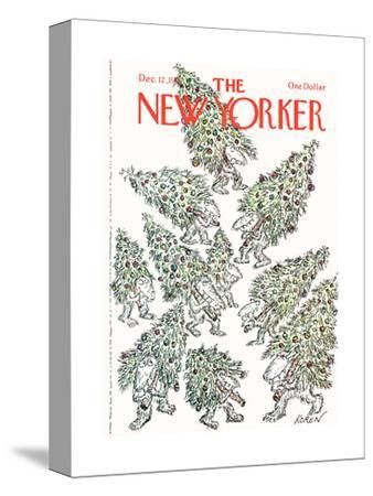 The New Yorker Cover - December 12, 1977-Edward Koren-Stretched Canvas Print