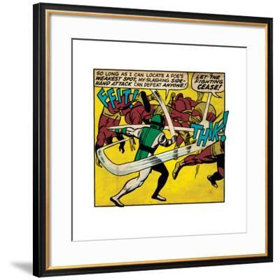 Marvel Comics Retro Style Guide: Karnak--Framed Art Print