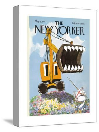 The New Yorker Cover - May 1, 1971-Mischa Richter-Stretched Canvas Print