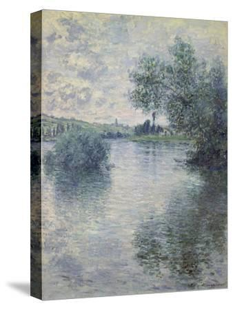 The Seine at Vetheuil, 1879-Claude Monet-Stretched Canvas Print