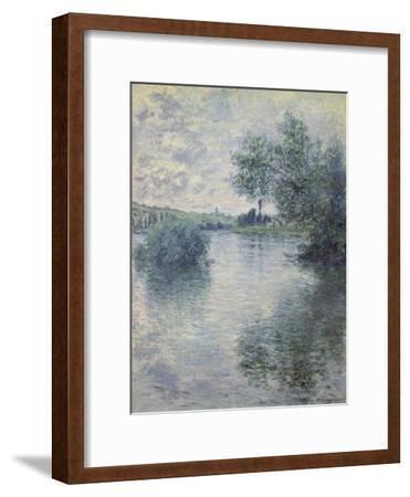 The Seine at Vetheuil, 1879-Claude Monet-Framed Premium Giclee Print