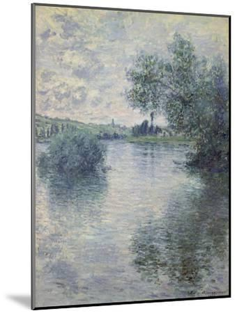 The Seine at Vetheuil, 1879-Claude Monet-Mounted Premium Giclee Print