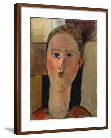 The Red Face, 1915-Amadeo Modigliani-Framed Giclee Print