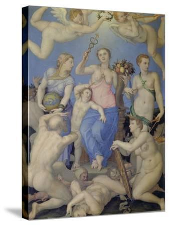 Allegory of Happiness, C. 1567-Agnolo Bronzino-Stretched Canvas Print