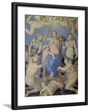 Allegory of Happiness, C. 1567-Agnolo Bronzino-Framed Giclee Print