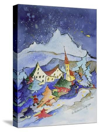 Winter in the Mountains 2001-Annette Bartusch-Goger-Stretched Canvas Print