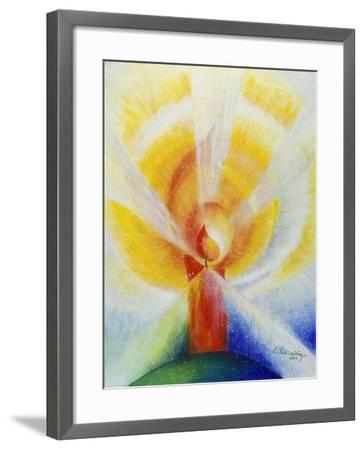 Light and Burning Candle, 2001-Annette Bartusch-Goger-Framed Giclee Print