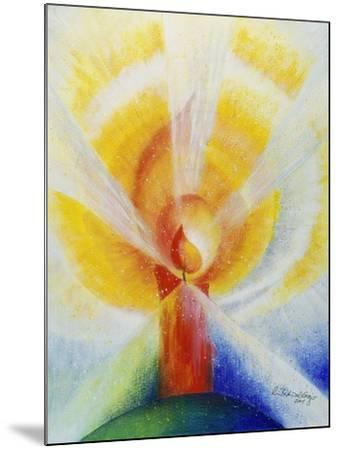 Light and Burning Candle, 2001-Annette Bartusch-Goger-Mounted Giclee Print