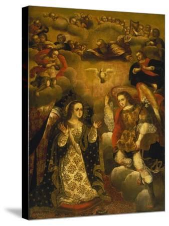Annunciation-Basilio Santa Cruz Pumacallao-Stretched Canvas Print