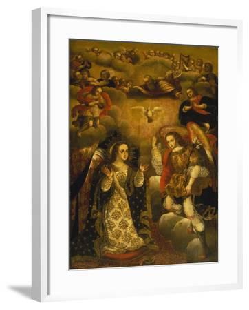 Annunciation-Basilio Santa Cruz Pumacallao-Framed Giclee Print