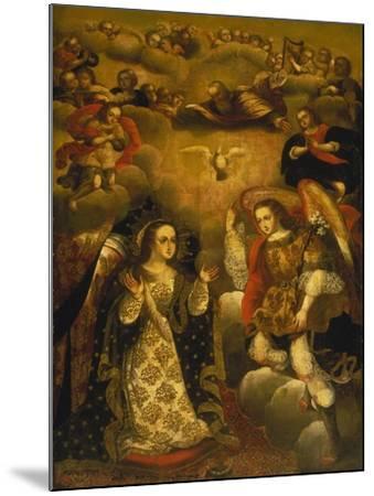 Annunciation-Basilio Santa Cruz Pumacallao-Mounted Giclee Print