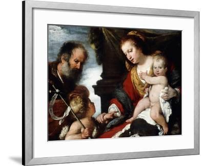 The Holy Family with the Infant St. John the Baptist-Camille Pissarro-Framed Giclee Print