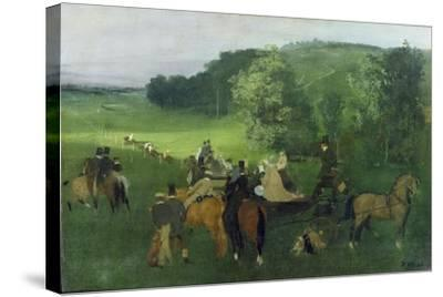 At the Racecourse, 1860-62-Edgar Degas-Stretched Canvas Print