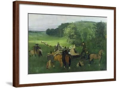 At the Racecourse, 1860-62-Edgar Degas-Framed Giclee Print