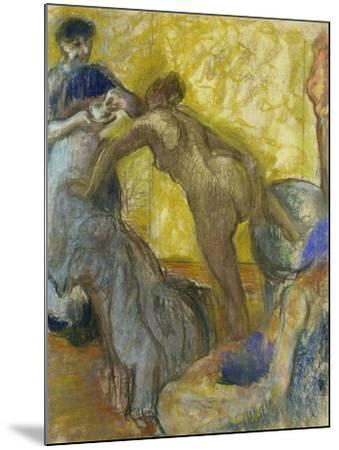 The Cup of Chocolate, C. 1900-05-Edgar Degas-Mounted Giclee Print