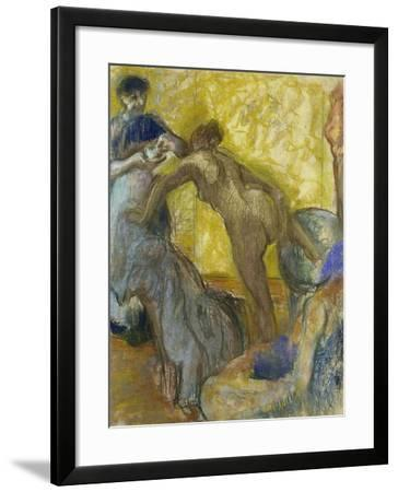 The Cup of Chocolate, C. 1900-05-Edgar Degas-Framed Giclee Print