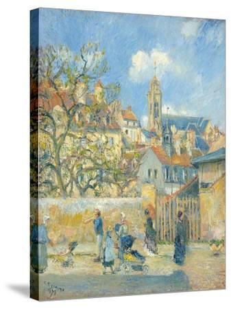 Le Parc Aux Charrettes, Pontoise, 1878-Canaletto-Stretched Canvas Print