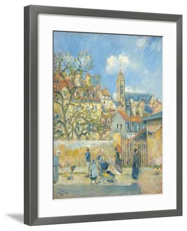 Le Parc Aux Charrettes, Pontoise, 1878-Canaletto-Framed Giclee Print