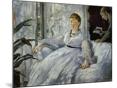 The Reading, Mme, Manet and Her Son, Léon Koella-Leenhoff, 1869-Edouard Manet-Mounted Giclee Print