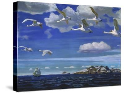 Blue Freedom, 1918-Arkadi Rylow-Stretched Canvas Print