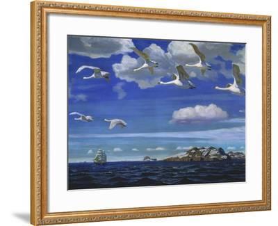 Blue Freedom, 1918-Arkadi Rylow-Framed Giclee Print