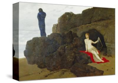 Ulysses and Calypso, 1883-Arnold B?cklin-Stretched Canvas Print