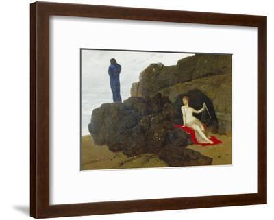 Ulysses and Calypso, 1883-Arnold B?cklin-Framed Giclee Print
