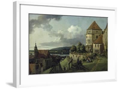 Pirna Seen from Sonnenstein Castle, Between 1753-55-Canaletto-Framed Giclee Print