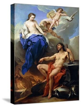 Venus Requesting Vulcan to Make Arms for Aeneas-Charles André van Loo-Stretched Canvas Print