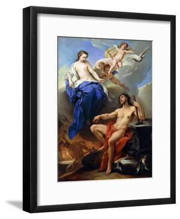 Venus Requesting Vulcan to Make Arms for Aeneas-Charles André van Loo-Framed Giclee Print