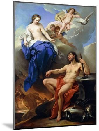 Venus Requesting Vulcan to Make Arms for Aeneas-Charles André van Loo-Mounted Giclee Print