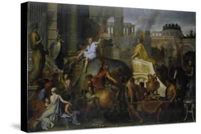 The Entrance of Alexander the Great into Babylon, C. 1673-Charles Le Brun-Stretched Canvas Print