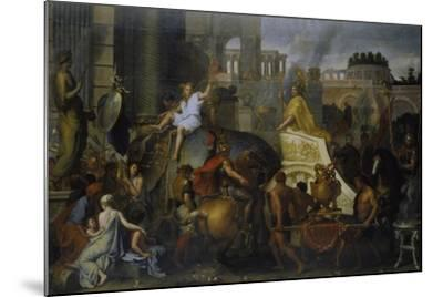 The Entrance of Alexander the Great into Babylon, C. 1673-Charles Le Brun-Mounted Giclee Print