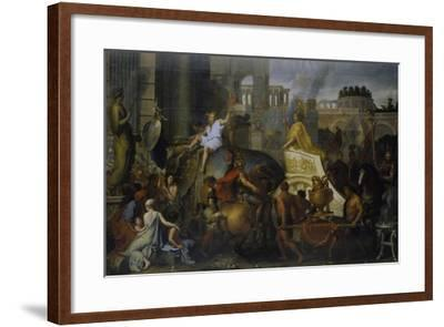 The Entrance of Alexander the Great into Babylon, C. 1673-Charles Le Brun-Framed Giclee Print
