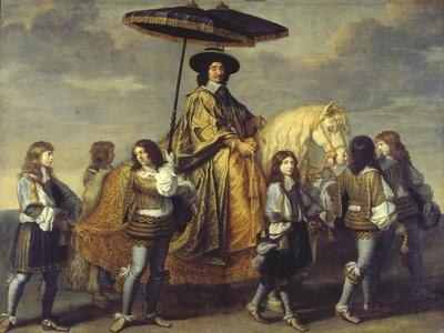 The Chancellor Séguier During the Entrance of Ludwig XIV in Paris, C. 1655-57-Charles Le Brun-Framed Giclee Print