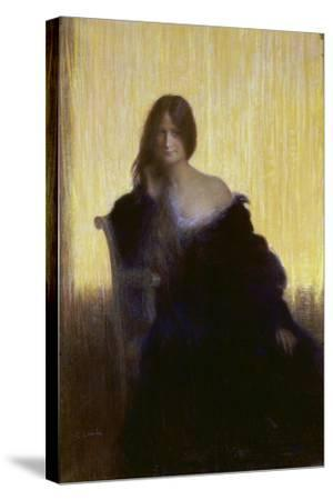 Portrait of a Lady-Charles Léandre-Stretched Canvas Print