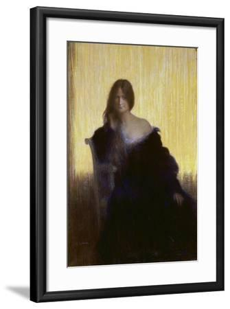 Portrait of a Lady-Charles Léandre-Framed Giclee Print