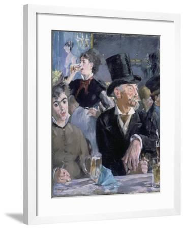 Le Café - Le Concert, 1878-Edouard Manet-Framed Giclee Print