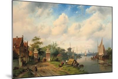 A River Landscape in Summer, 1853-Charles Henri Joseph Leickert-Mounted Giclee Print