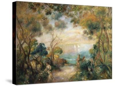 A Garden in Sorrento-Pierre-Auguste Renoir-Stretched Canvas Print