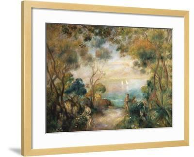 A Garden in Sorrento-Pierre-Auguste Renoir-Framed Giclee Print