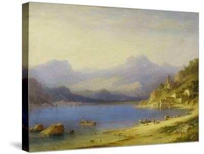 Lake Como with Boats, 1869-Carl Larsson-Stretched Canvas Print