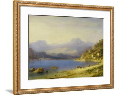 Lake Como with Boats, 1869-Carl Larsson-Framed Giclee Print