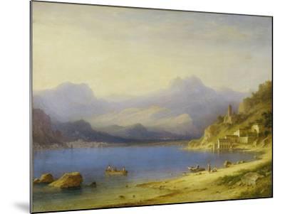 Lake Como with Boats, 1869-Carl Larsson-Mounted Giclee Print